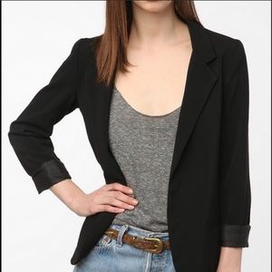 Silence + Noise Black Open Blazer Jacket Size M